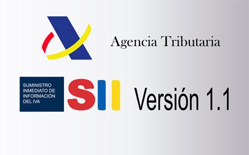 Modificaciones SII 1.1-Entrada en vigor: julio de 2018
