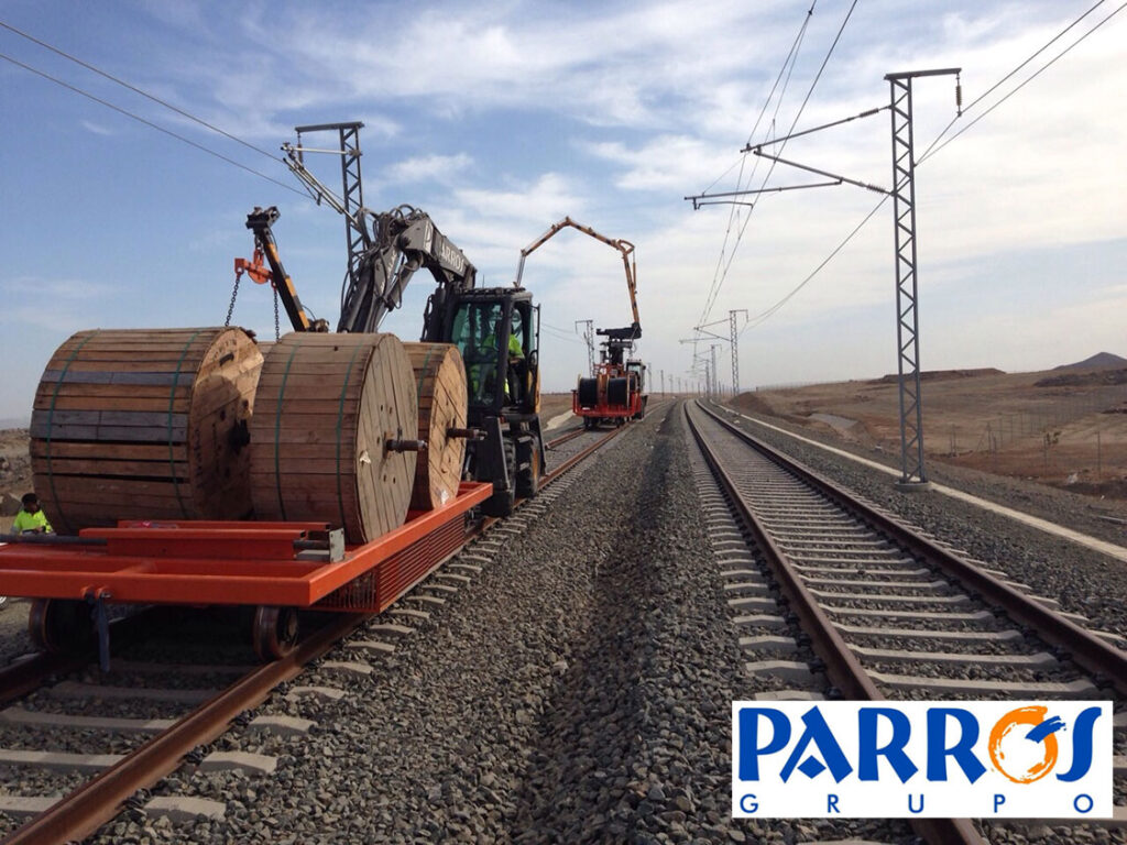 Grupo Parrós: Tendido cable AVE Medina La Meca